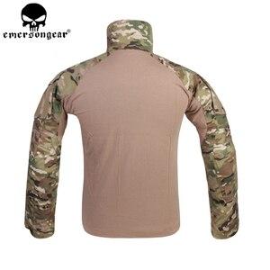 Image 4 - EMERSONGEAR G3 боевая униформа для страйкбола, рубашка, брюки с наколенниками, военный тактический Мультикам, охотничий камуфляж, EM9351