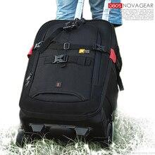 NOVAGEAR 80805 büyük uzay tekerlekli çanta DSLR su geçirmez sırt çantası çok fonksiyonlu kamera çantaları için Canon/nikon kamera