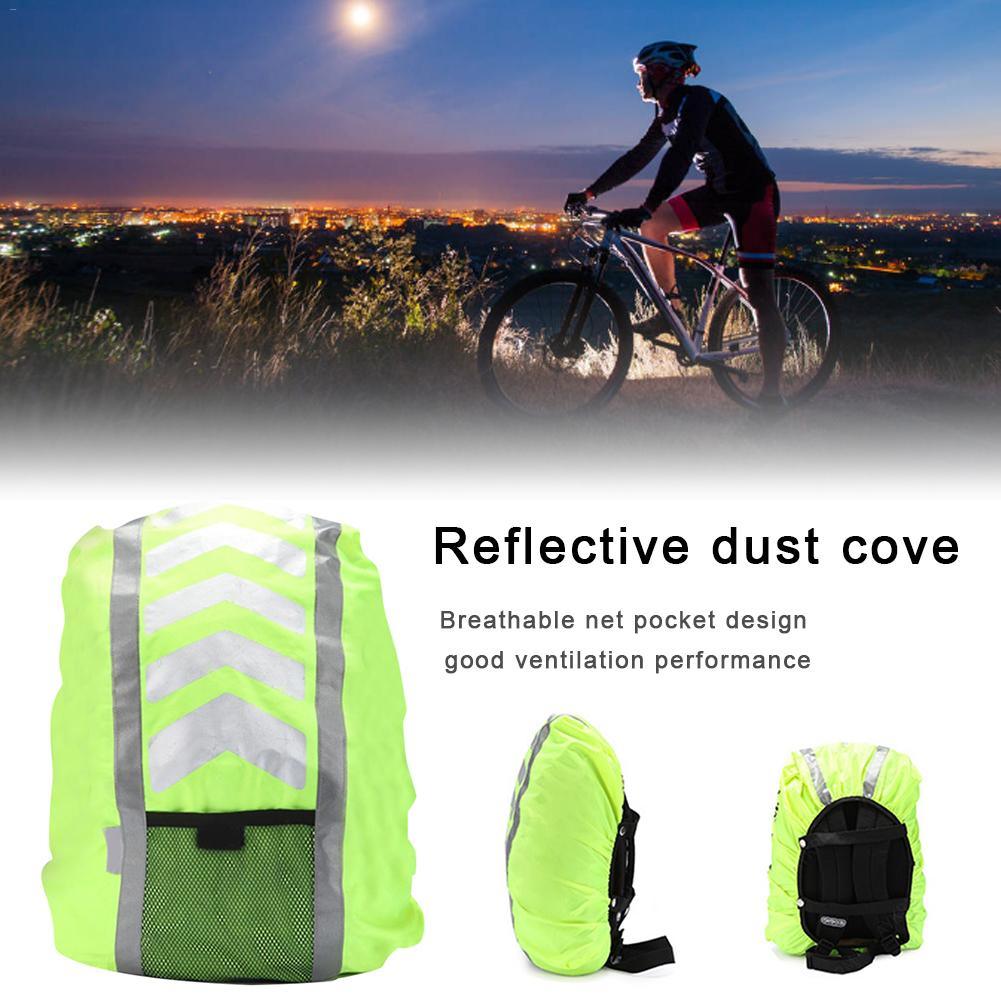 Sports Outdoor Rain Cover Safety Protection Reflective Backpack Cover Riding Sports Backpack Breathable Net Pocket Design