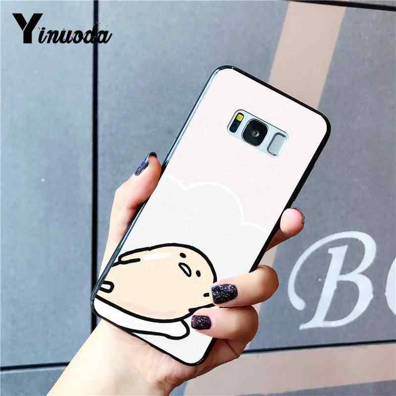 Yinuoda 素敵な Gudetama 卵黒ソフトシェル電話カバー三星銀河 S9 プラス S7 エッジ S6 エッジプラス S5 s8 プラスケース