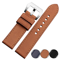 Handmade High Quality Italy Genuine Leather Watch Strap Band 22mm Vintage Watch Strap With Matte 316