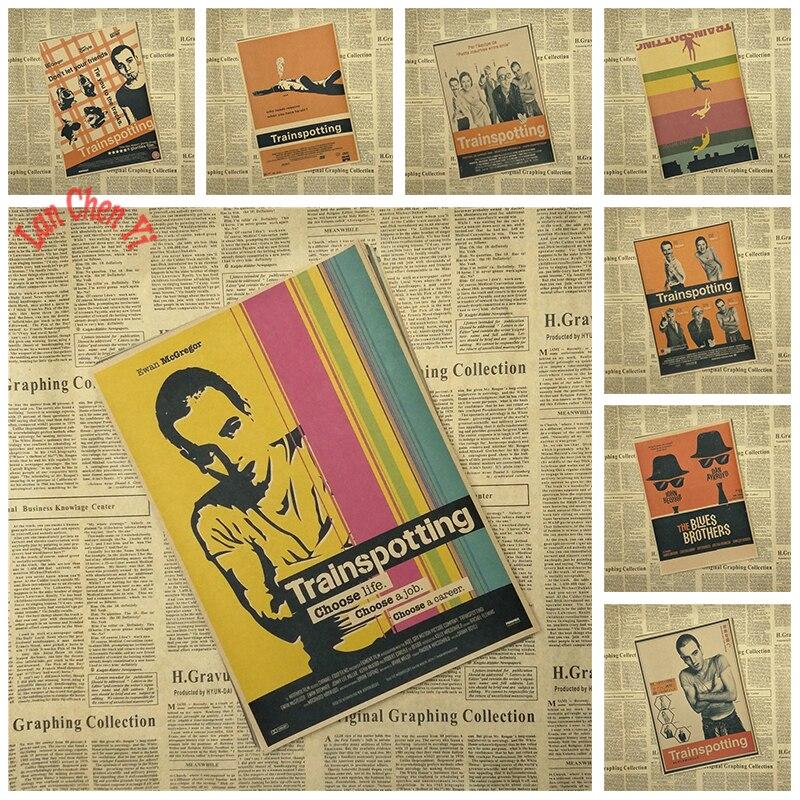 Multiple awards Nostalgic Matte Kraft Paper Poster Trainspotting Office Gift Room Dining Home Decor wall sticker Design
