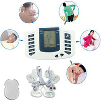 New Electrical Stimulator Full Body Relax Muscle Massager Pulse Tens Acupuncture Therapy Slipper 6 Electrode Pads
