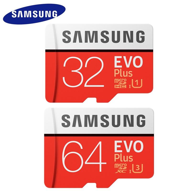 Neue Ankunft SAMSUNG Micro sd-karte Speicherkarte 64 gb EVO + EVO Plus 64 GB 32 GB Class10 TF Karte Class10 Memoria 100 MB/S SDXC UHS-1