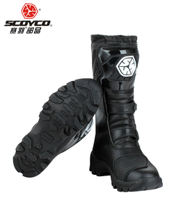 Image 4 - SCOYCO motorcycle riding Boots street automobile racing boots road Motocross riding shoes MBT012 size EUR42 US 8.5