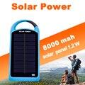 Sunever diseño Creativo impermeable dual USB 8000 Mah banco de la energía solar, portátil cargador de móvil solar para smartphone y tablet