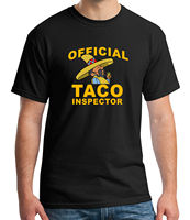 Official TACO inspector Adult's T shirt Mexican Latino Food Tee for Men 2108C Comfortable t shirt,Fashion Style Men Tee