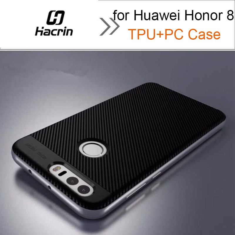Case for Huawei Honor 8 100% New High Quality PC+TPU Case with Frame Silicone Case Back  ...