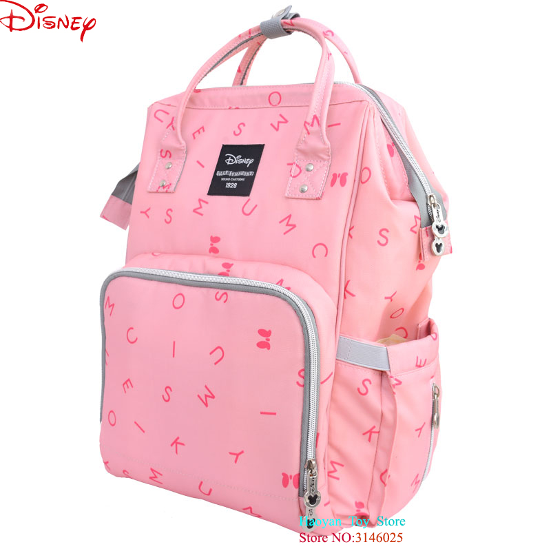 Genuine Disney USB Oxford Cloth Insulation Bags Mickey Mouse Large Capacity Bottle Feeding Storage Waterproof Bags Diaper Bag disney new upgraded version mickey and minnie insulation bag top capacity baby feeding bottle bags diaper bags oxford usb bags