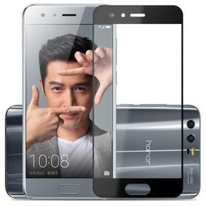 Image 3 - Tam kapak renk temperli cam için Huawei onur 9 onur 9 Lite Honor9 9 Lite ekran koruyucusu filmi siyah beyaz mavi gri