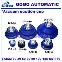 特殊な吸引カップ板金 SAB22 30 40 50 60 80 100 125 NBR-60 真空パッドロボットアクセサリー真空吸引カップ