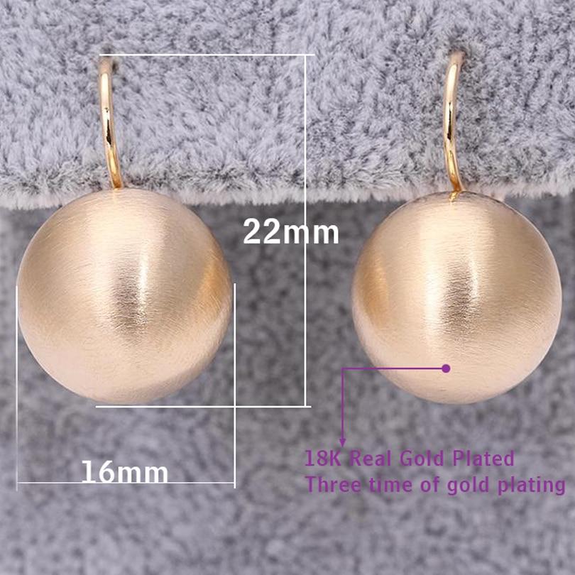 2017 Fashion Jewelry Gold-color Luxury Earrings Shining Ball Shape - Fashion Jewelry - Photo 6