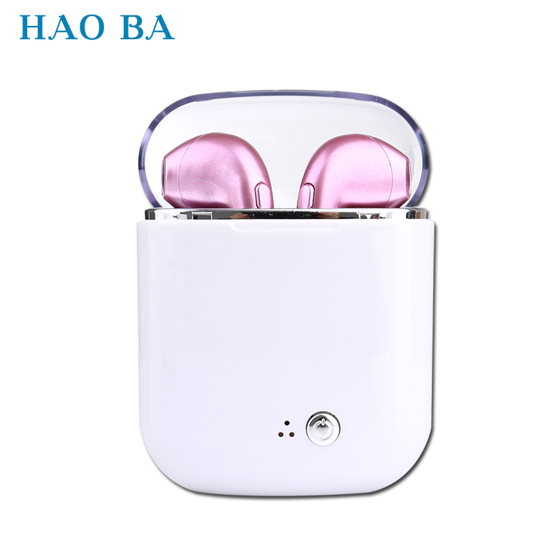 Bluetooth Earphone Mini Wireless Earpiece Cordless Headphone Stereo Sport in ear Earbuds Headset For Phone iPhone Samsung HAOBA awei wired headset headphone in ear earphone for your ear phone buds iphone samsung earbuds earpiece smartphone player computer