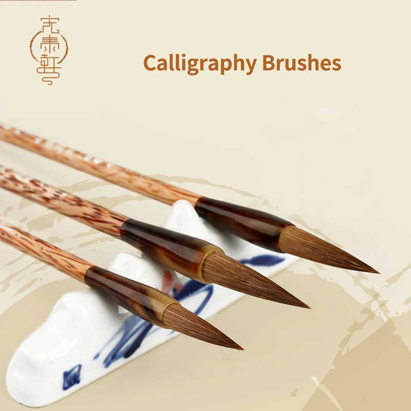 3Pcs/Set Weasel Hairs Chinese Calligraphy Brushes Pen Artist Painting Writing Drawing Brush Fit For Student School Stationery цены