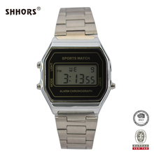 Top Brand Shhors Women Men Watches Luxury Stainless Steel Mesh Band Business Quartz Watch Male Wristwatch Relogio homme