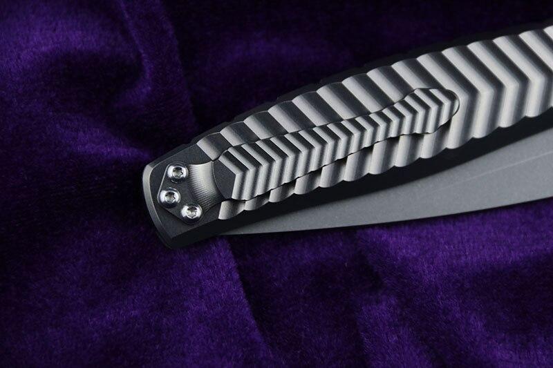 de alumínio faca dobrável bolso acampamento sobrevivência