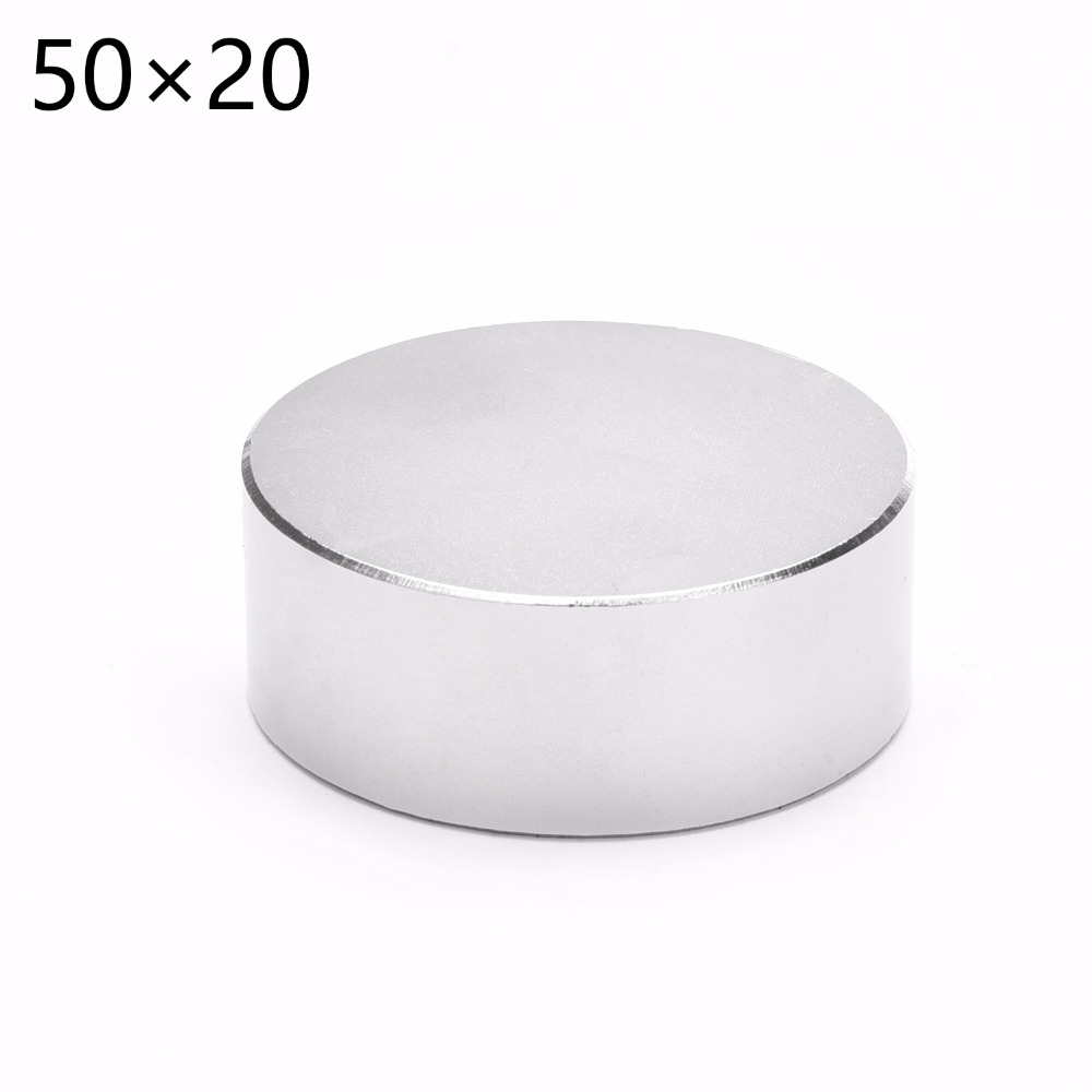 Free Shipping 1pcs 50x20mm Hot Super Powerful Strong magnet Round NdFeB Neodymium Magnet Dia 50*20  Rare Earth Magnet 5pcs round circular cylinder 25 x 20 mm magnet rare earth neodymium 25 20 mm