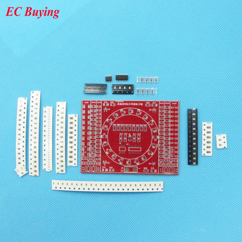 DIY SMT SMD Component Soldering Practice Board Running Water Light Kit DIY KIT for Self-Assembly Electronic Components
