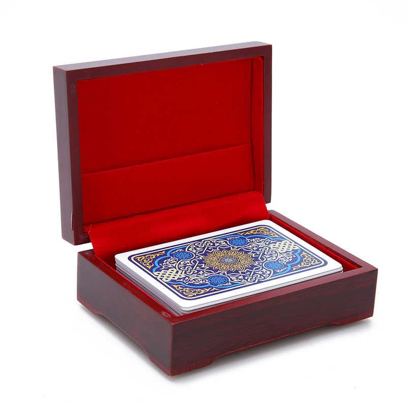 Holz box spielkarten container lagerung fall verpackung poker brücke box