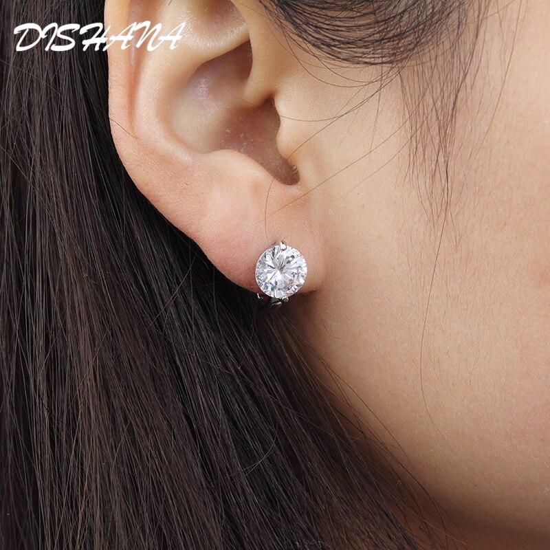 Kullavärvi väikesed kõrvarõngad valgemad kristall ehted bränd - Mood ehteid - Foto 2