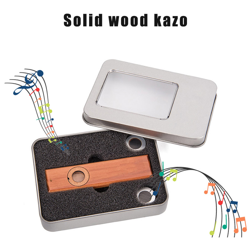 Solid Wood Kazoo Music Instruments Ukulele Guitar Partner Gift With Box For Music Lovers XR-Hot