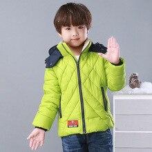 New Winter Cotton-padded Warm Child Wadded Jacket Kids Thickening Down cotton Brand Girls Boys M Design Coat Children's clothing