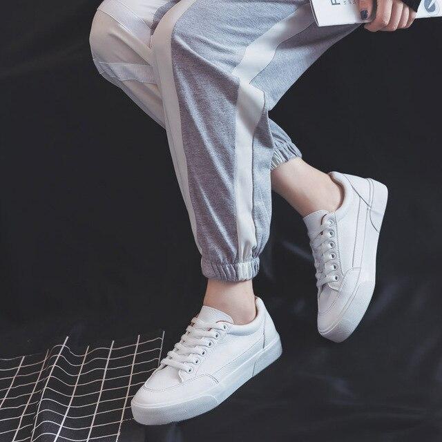 Sapatilhas femininas sapatos de moda primavera tendência casual apartamentos sapatilhas femininas nova moda conforto branco sapatos plataforma vulcanizada 5
