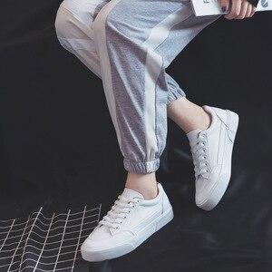 Image 5 - النساء أحذية رياضية أحذية من الجلد الربيع الاتجاه أحذية رياضية غير رسمية الإناث موضة جديدة الراحة الأبيض مبركن أحذية منصة