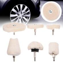 цена на 6pcs New White Polishing Buffer Wheel Attachment For Electric Polishing Tool Accessories Polishing Buffing Tool Kit
