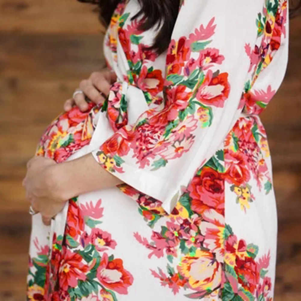 aa656317ae153 ... MUAGEW 2018 Hot Sale Women Maternity Nursing Nightgown Breastfeeding  Nightshirt Floral Sleepwear Dress Dropshipping Mom Clothes ...
