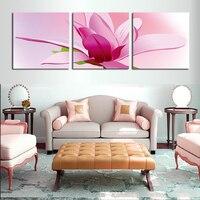 2016 3 패널 캔버스 벽 예술 HD 붉은 꽃 그림 홈 장식