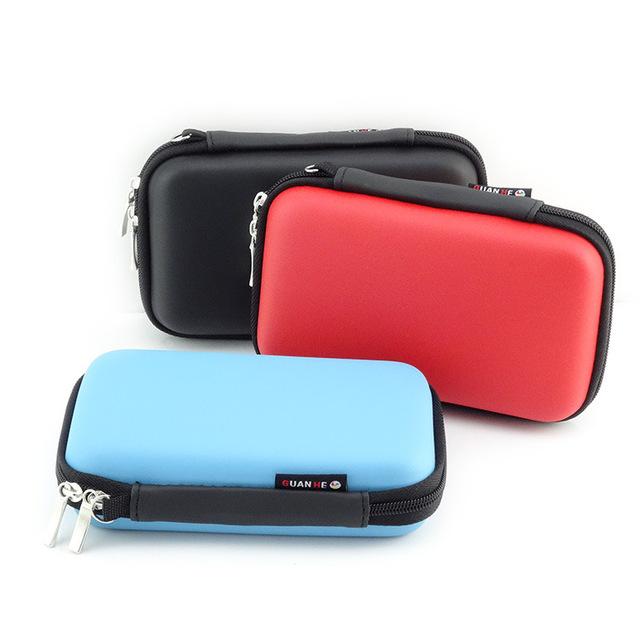 LASPERAL Zipper słuchawka etui skórzane słuchawki pudełko przenośne USB Cable Organizer prowadzenie Hard Bag dla karty pamięci monety tanie i dobre opinie Pudełka do przechowywania pojemniki Magazynowany składany ekologiczny Prostokąt Plastikowe Z Al-DIGO Schowek Błyszczący