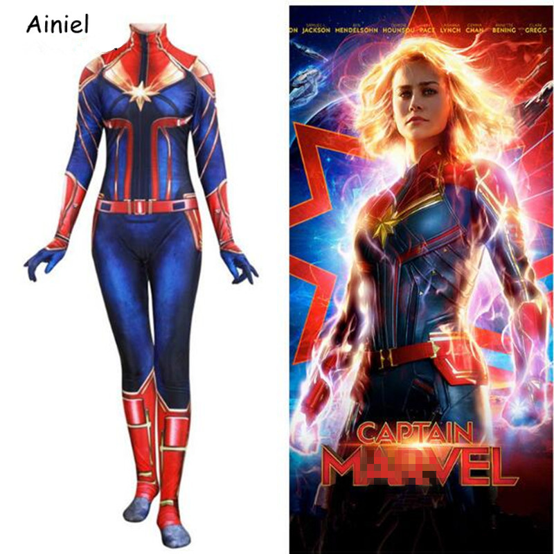 Cosplay Movie Captain Marvel Costumes Superhero Carol Danvers Zentai Lycry Suit Halloween Costume Patty Women Children Adult In Movie Tv Costumes From Novelty Special Use On Aliexpress Carol danvers full set includes: aliexpress
