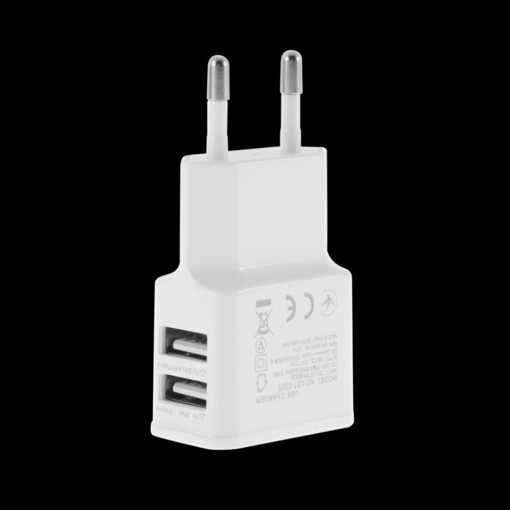 EU plug 5V 2A Dual USB Universal Mobile Phone Chargers Travel Power Charger Adapter Plug Charger for iPhone for Android Pakistan