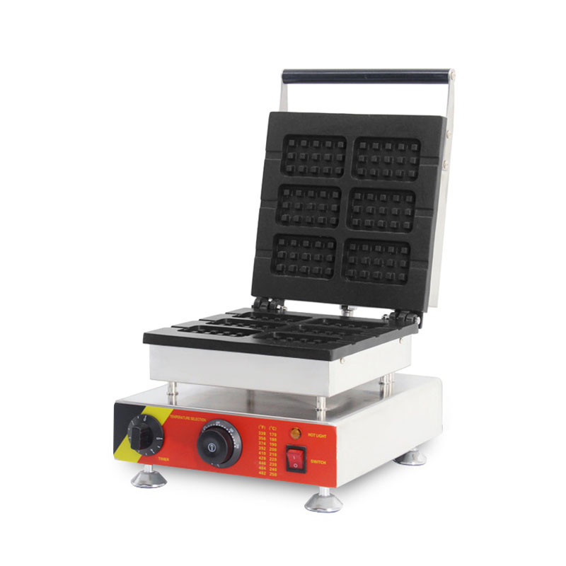 SUCREXU Electric Commercial 6PCS Waffle On a Stick Maker Iron Machine Baker Non stick Belgium Wafle Maker 110v 220v CE