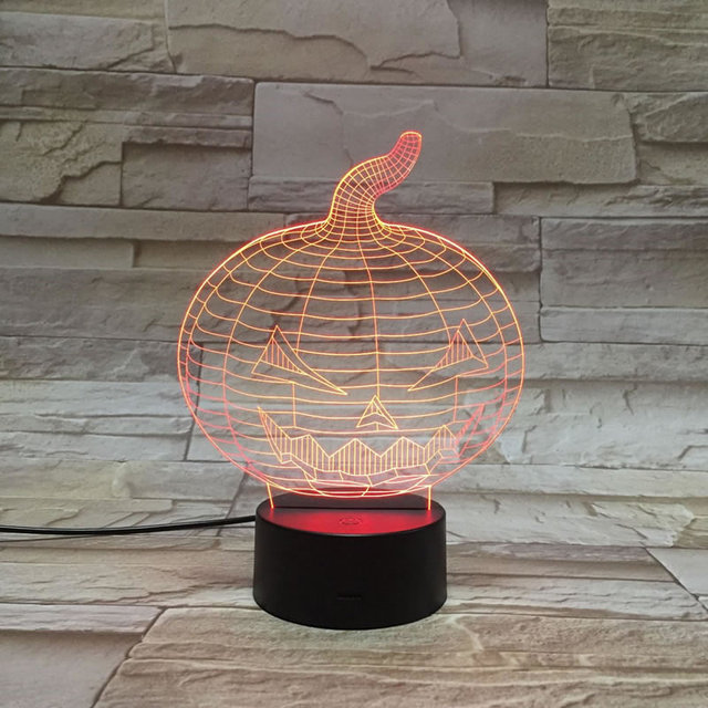 Colorful 3d illusion led table lamp pumpkin 3d lamp remote colorful 3d illusion led table lamp pumpkin 3d lamp remote controlled color touch atmosphere night light aloadofball Image collections