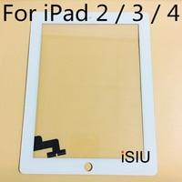 ISIU מסך מגע עבור iPad 2/עבור iPad 3/עבור iPad 4 Tab מגע זכוכית Digitizer מגע טלפון תיקון אין תצוגת LCD שחור לבן