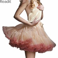 3 Layer Mini Skirts Tulle Skirt American Apparel Waist Tutu Skirts Womens Lolita Petticoat 2016 Summer