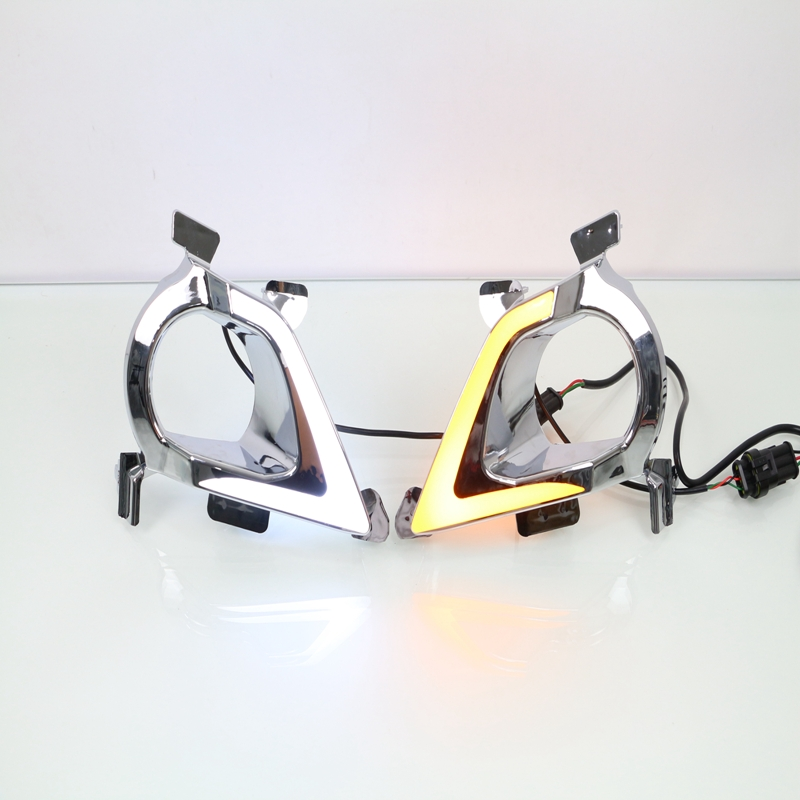 1 Set LED Fog Driving Lamp DRL White/Yellow Daytime Running Lights With Turn Signals Lamps for Toyota Innova 2015-2016 drl daytime running lights led fog lights lamp toyota yaris hatchback 2009 on clear lens pair set with wiring kit fog light set