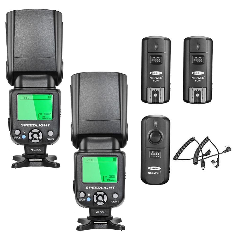 Neewer NW-562N i-TTL Flash Speedlite Kit for Nikon DSLR CameraNeewer NW-562N i-TTL Flash Speedlite Kit for Nikon DSLR Camera