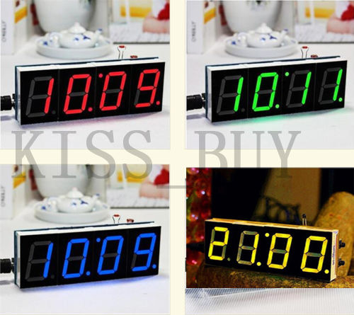 Red Digital LED Electronic Microcontroller Clock Screen Display Time DIY