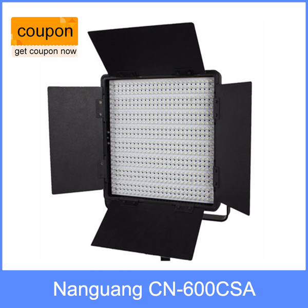 Nanguang CN-600CSA LED Studio Light High CRI Bi-color Led Video Light with V-Lock Ra95+ CRI 95+ nanguang cn r640 cn r640 photography video studio 640 led continuous ring light 5600k day lighting led video light with tripod