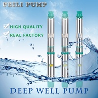 80QJD1 30 1 1 1 1kw Vertical Turbine Pump Deep Well Submersible Pump Head 150 Meter