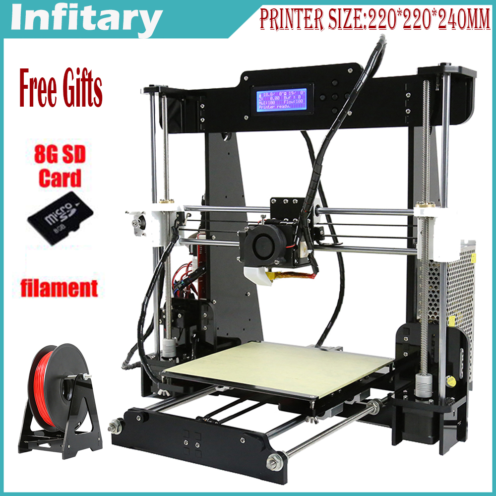 Hot Big size 220 220 240mm High Quality Precision Reprap Prusa i3 3d font b Printer