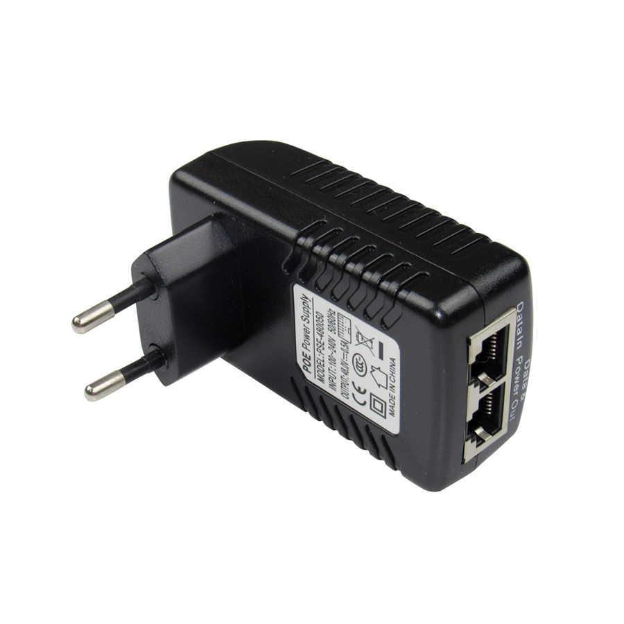 DC48V 0.5A CCTV aktywny wtryskiwacz poe Ethernet zasilacz do kamery IP, Pin zasilania 4/5 (+), 7/8 (-) kompatybilny z IEEE802.3af