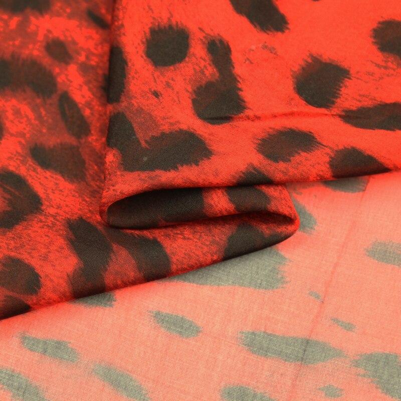 Leopard Print Silk Chiffon Fabric 100/% Pure Silk