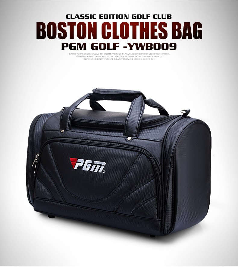 2018 PGM Golf Clothes Bag Men's PU Ball Package Multi functional Clothes Bag Super Capacity Ultralight Wear resisting Golf Bag-in Golf Bags from Sports & Entertainment    3