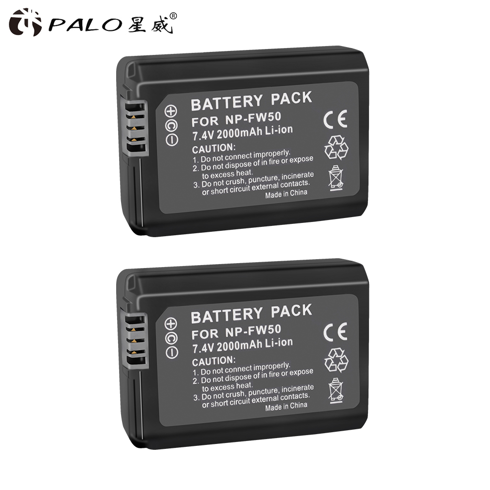 PALO1/2/4 NP-FW50 NP FW50 Camera Battery For SONY A5000 A5100 A7R NEX 6 7 5TL 5R 5N 3Nl A6000 5T 5C 3N A7 NEX6 NEX7 NEX5TL NEX5R