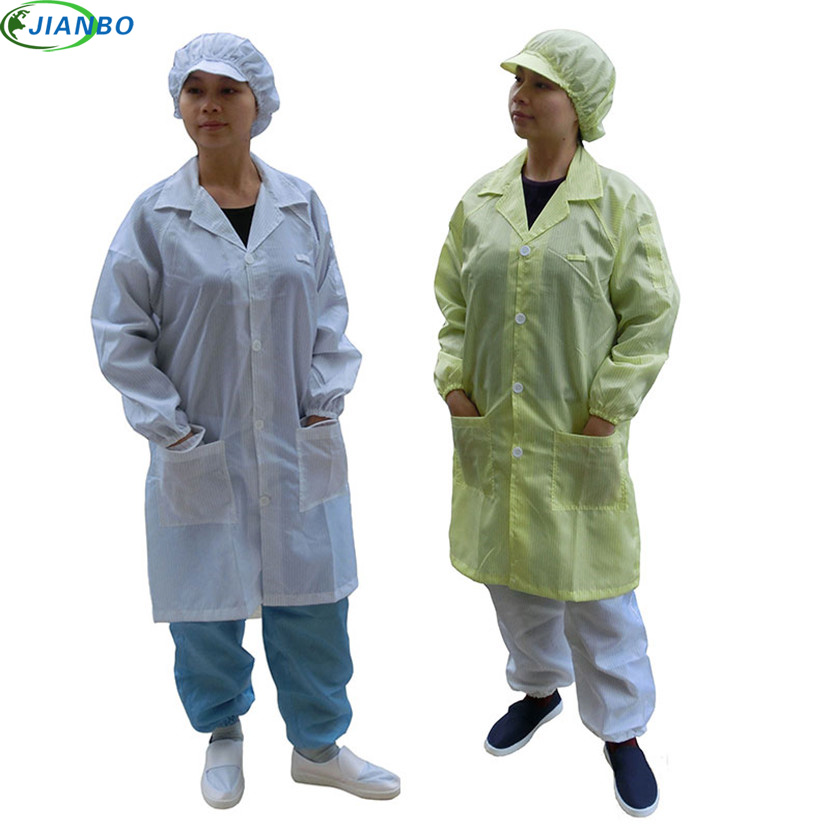 Summer AntiStatic Protective Clothes Cleanroom Garments ESD Work Clothes Antistatic Work Wear Clean Unisex Clothing Knitted Coat