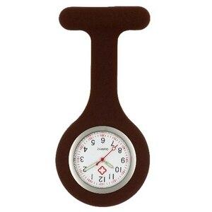 Image 2 - Infirmière en silicone lumineux montres femmes dames médecin FOB montres de poche en gros médecin médical hôpital quartz accrocher montres
